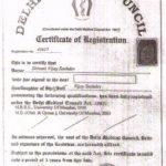 Dr Shivani Certificates
