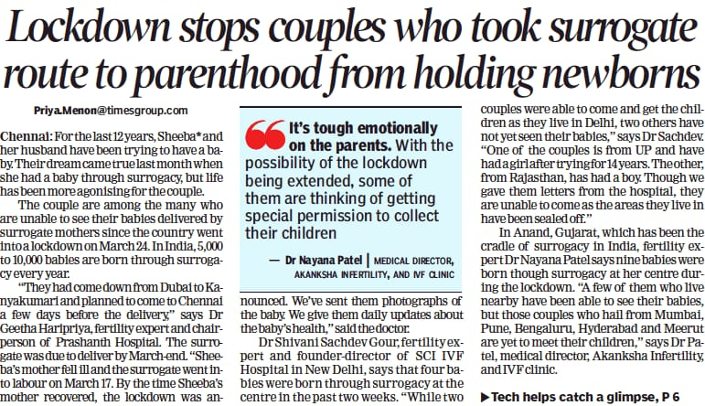 Lockdown stops couples who took surrogate route to parenthood from holding newborns